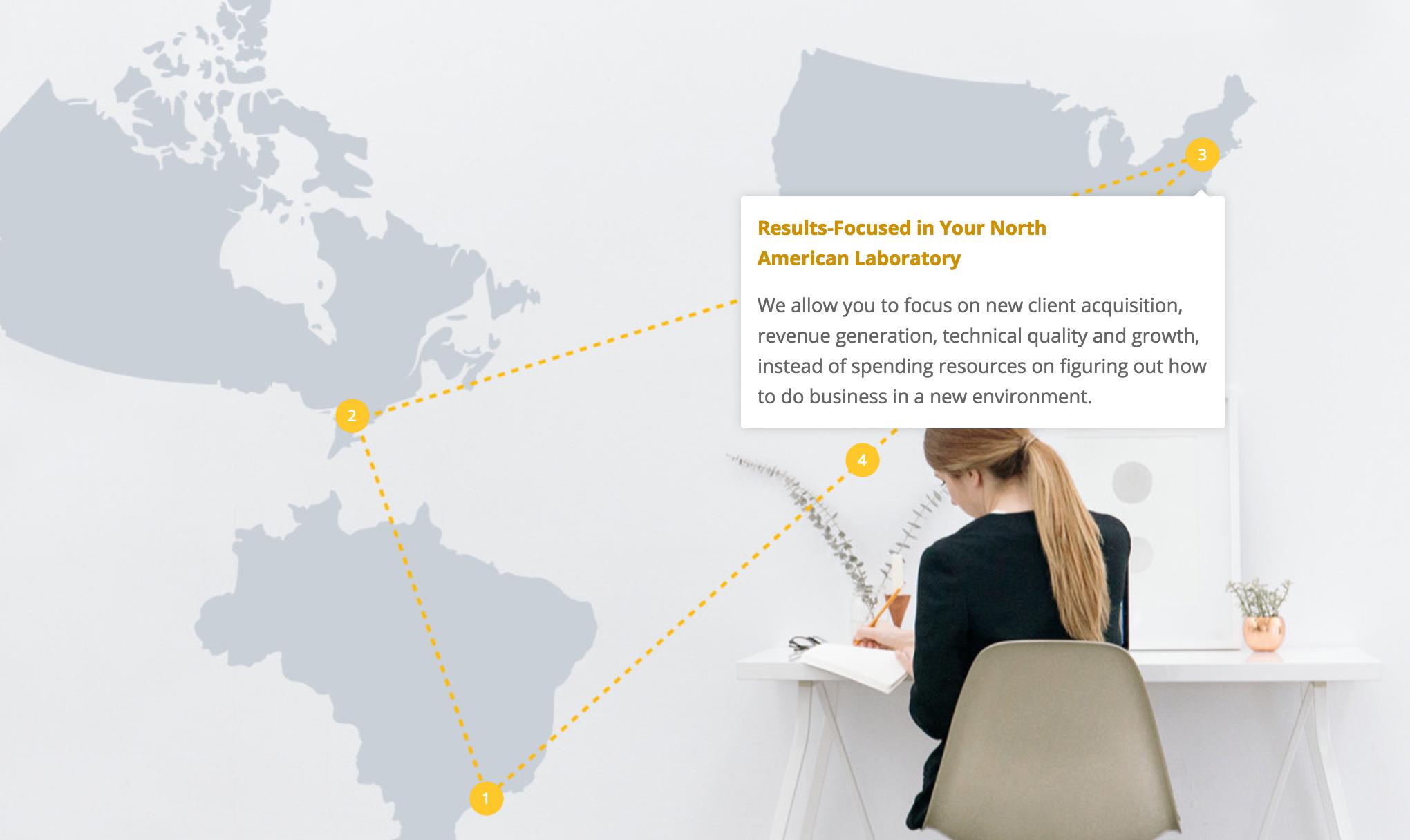 screen shot of lucalex interactive feature