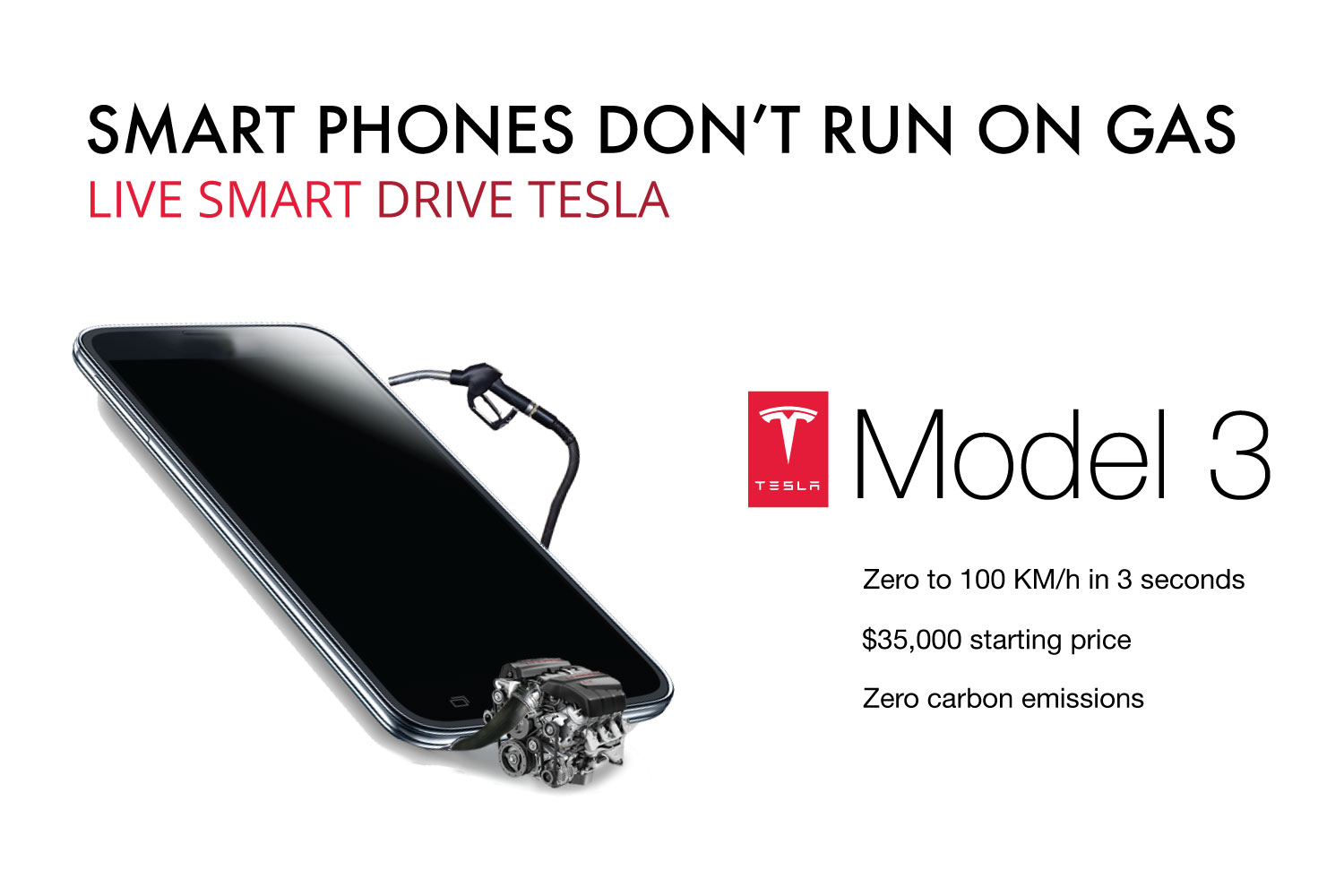 smartphones don't run on gas mock ad campaign